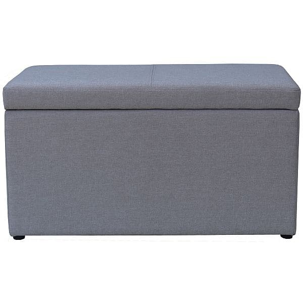 Better Homes and Gardens Faux Linen Hinged Storage Ottoman $20 + Free Store Pickup