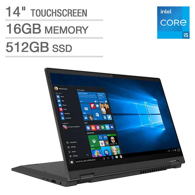 "Lenovo Flex 5 14"" 2-in-1 Touchscreen 11th Gen i5-1135G7 16GB RAM 512 GB SSD 1080p"