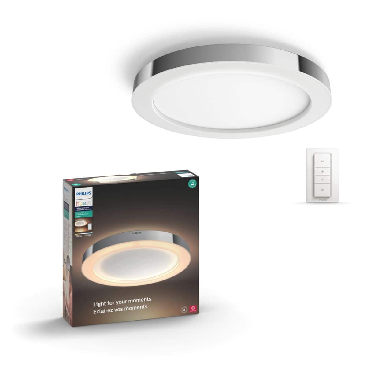Philips Hue Adore Ceiling Light and Included Dimmer Switch $126