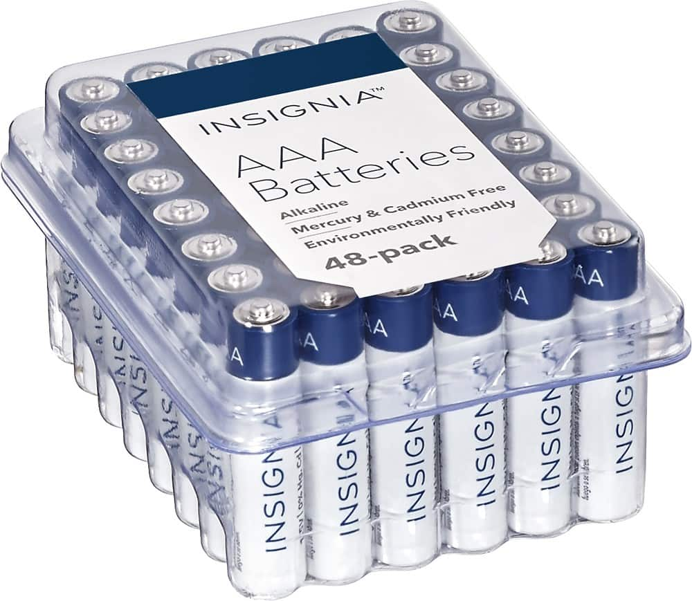 Insignia™ - AA or AAA Batteries (48-Pack) 6.99 + Free Shipping $6.99