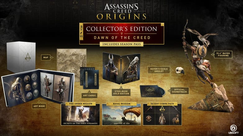 ASSASSIN'S CREED ORIGINS DAWN OF THE CREED EDITION for PC 30% off + free shipping and points to use for 20% off next purchase. $112