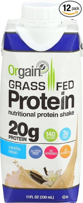Prime Members: Orgain Vanilla Bean Protein Shake RTDs (12 count) $11.17