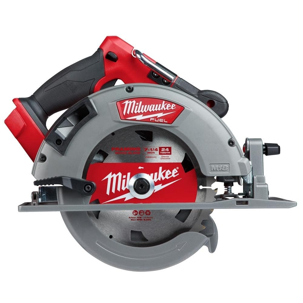 Milwaukee M18 FUEL 18-Volt Lithium-Ion Brushless Cordless 7-1/4 in. Circular Saw (Tool-Only)-2732-20 - $179
