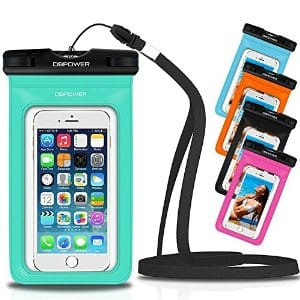 DBPOWER Universal Waterproof Phone Case Dry Bag $2.96 @Amazon +FS with prime