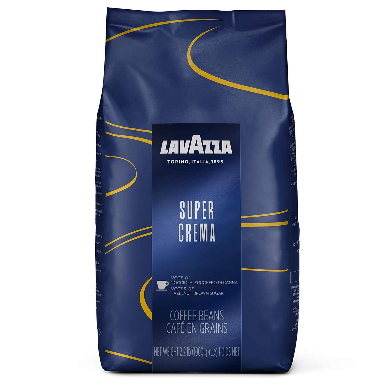 Lavazza Super Crema Whole Bean Coffee Blend ( pack of 1 ) $12.19 with SS @Amazon + FSSS