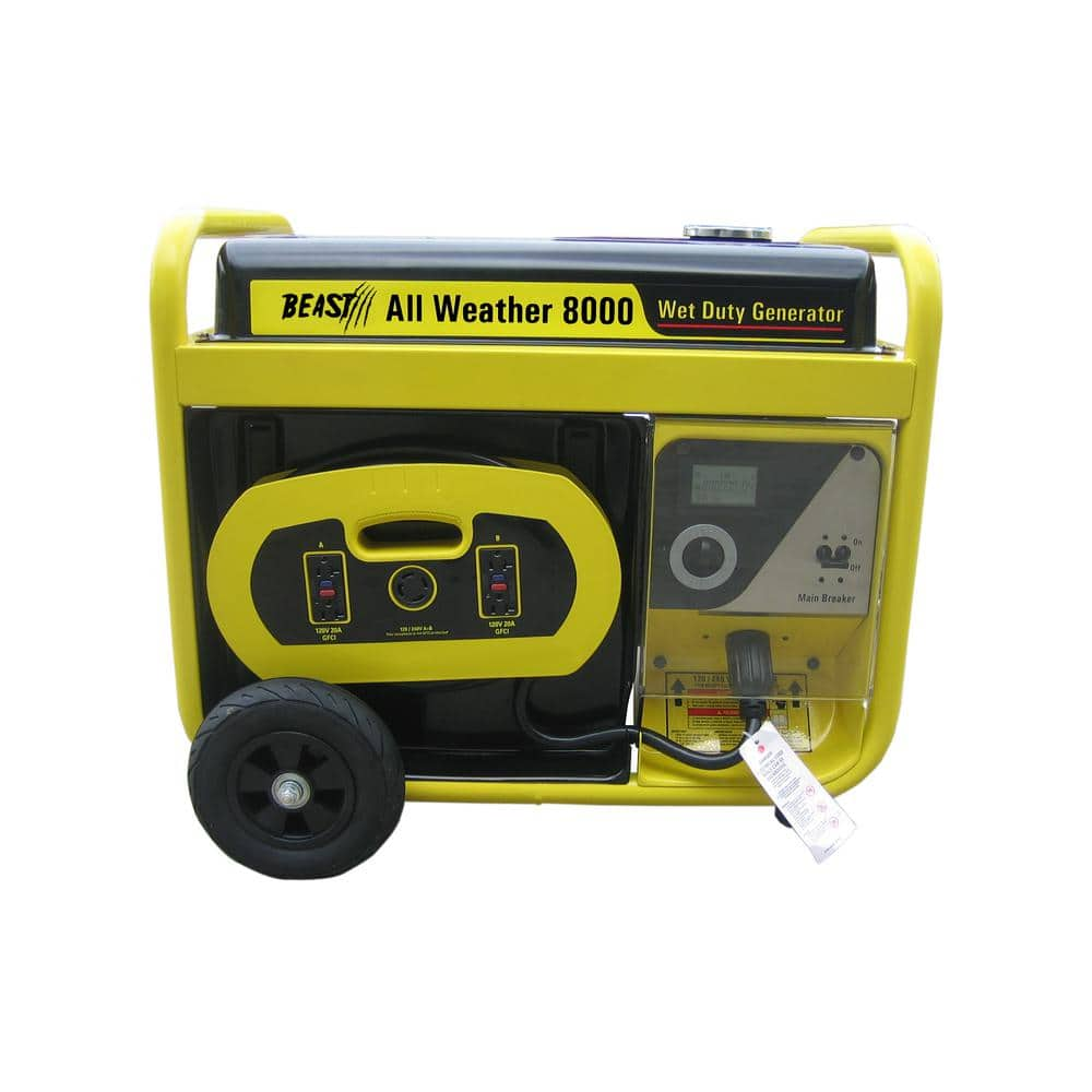 Beast 10,000w Surge All Weather Electric Start Generator, Removable Control Panel $659 at Home Depot