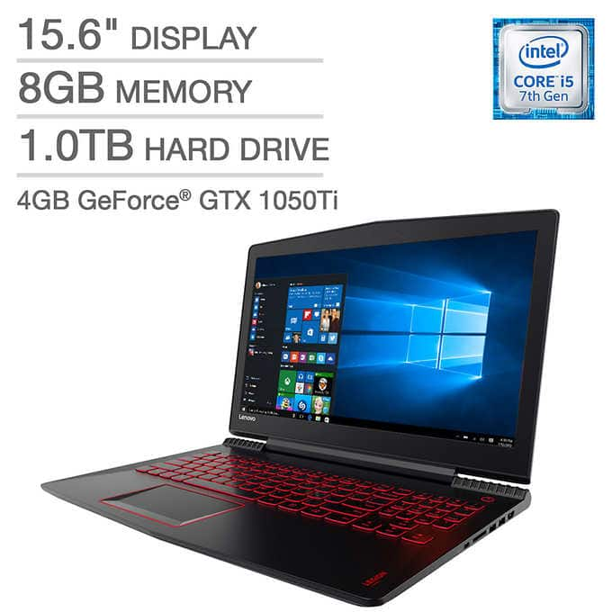 Lenovo LEGION Y520 Gaming Laptop - i5-7300HQ - 4GB NVIDIA GeForce GTX 1050Ti - 8GB RAM - 1TB HDD $700