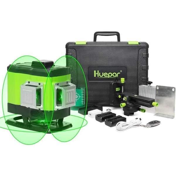 Huepar 3D laser level with Remote Control&Hard Carry Case 503 DG and more $141