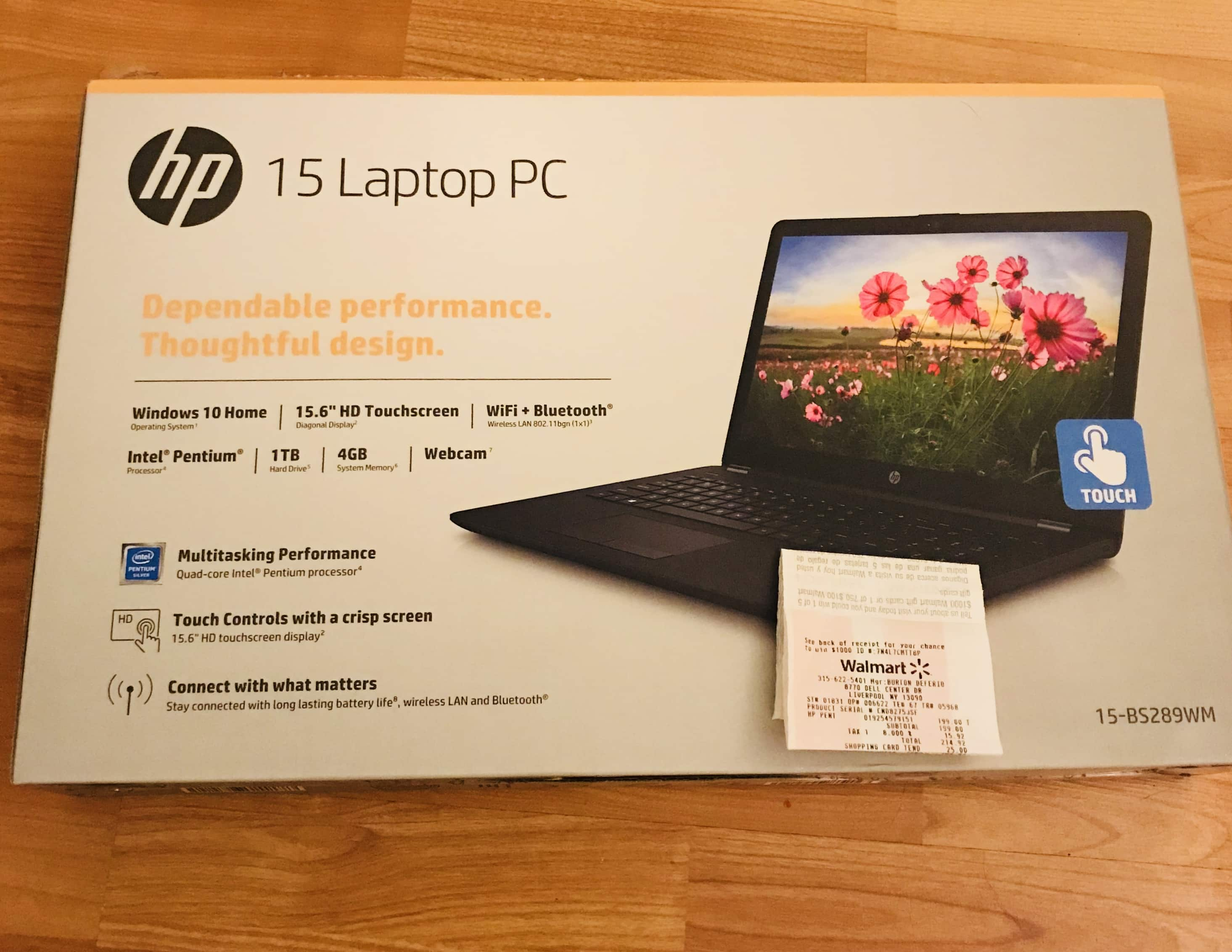 "HP 15.6"" Touchscreen Laptop 1TB win 10 4GB $199 In store only YMMV"