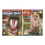 Ranger Rick or Ranger Rick Jr. Kids Magazine $10 annual subscription
