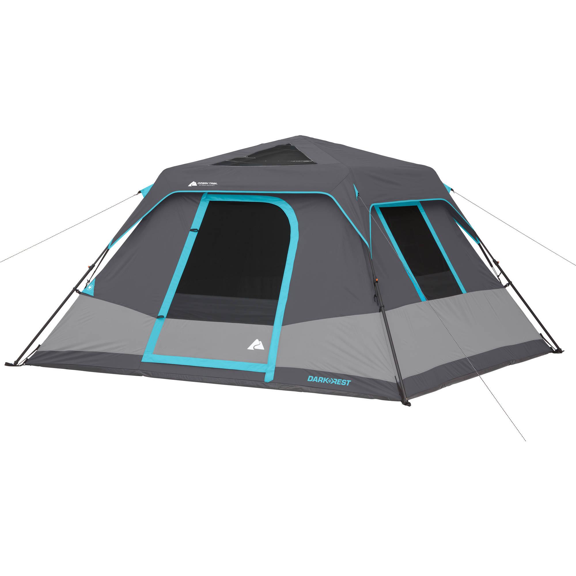 c75634921eb Ozark Trail 6-Person 10  x 9  Dark Rest Instant Cabin Tent ...