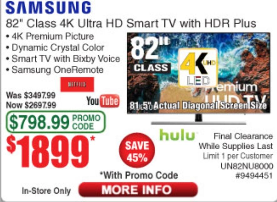 Code Promo Samsung Tv