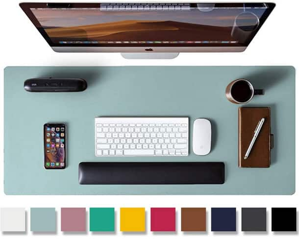 Leather Desk Pad Protector, Mouse Pad, Office Desk Pad $5.99