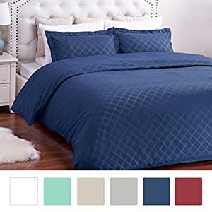 Amazon: 40% off Embossed Solid Duvet Cover Set for $11.99-$17.99 + Free Shipping $11.67