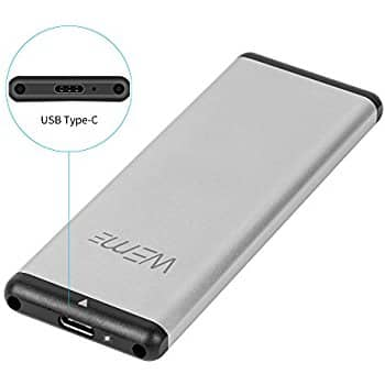 Aluminum USB-C M.2 NGFF Hard Drive B Key SATA SSD to USB 3.0 WEme Adapter External Enclosure Case with UASP and TRIM $12.99 AC $12.93