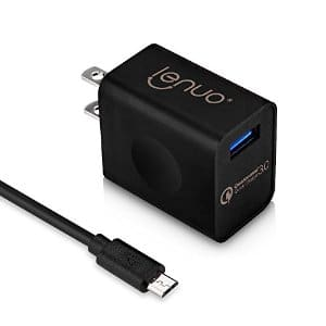 Quick Charge 3.0 Qualcomm Certified Lenuo Micro USB Fast Wall Charger for Samsung Galaxy S7/S6/LG G5 iPhone $7.99+FS w/prime@Amazon.