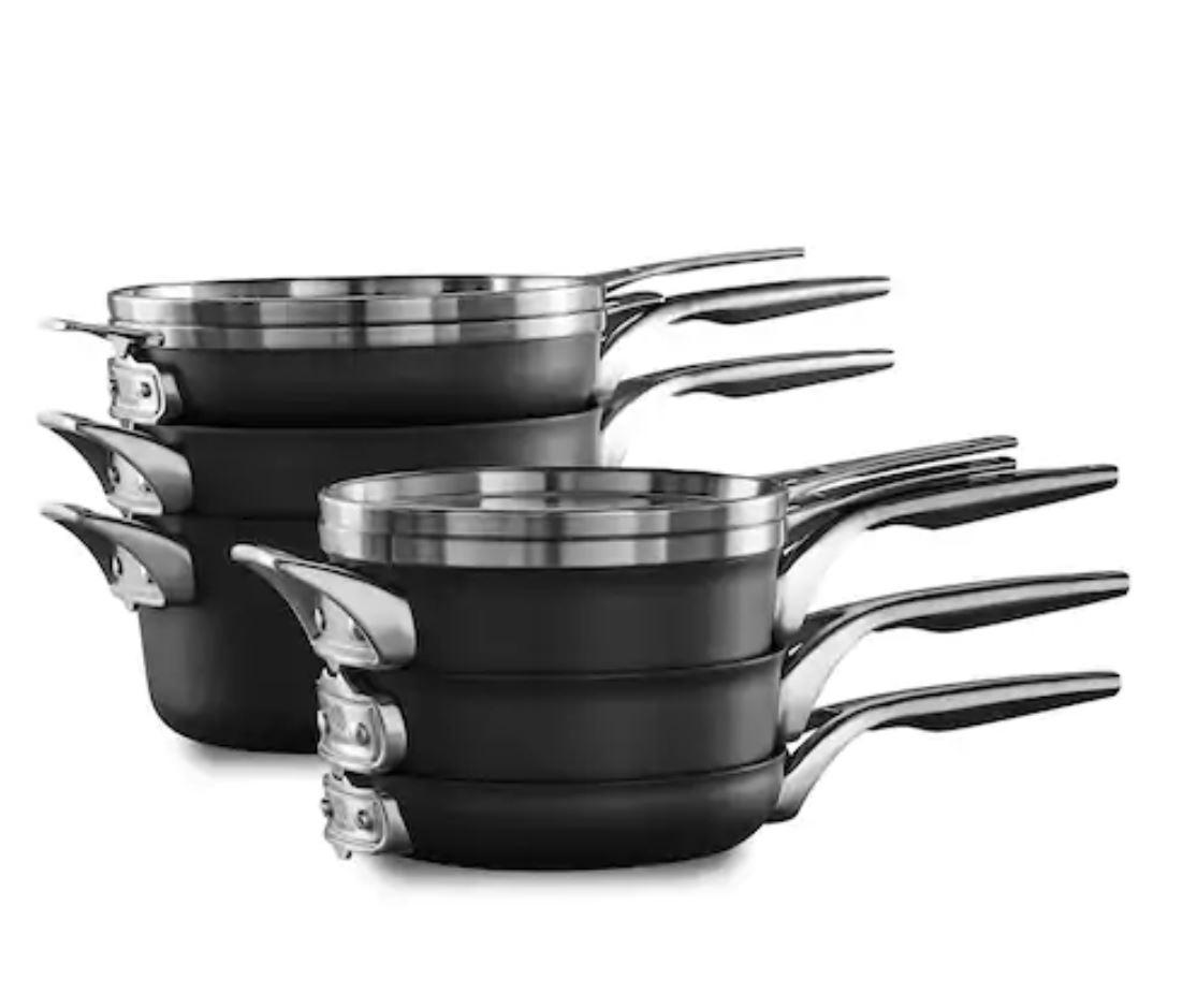 Calphalon Premier Space Saving 10-pc. Nonstick Cookware Set - $262.49 @ Kohls with Coupons