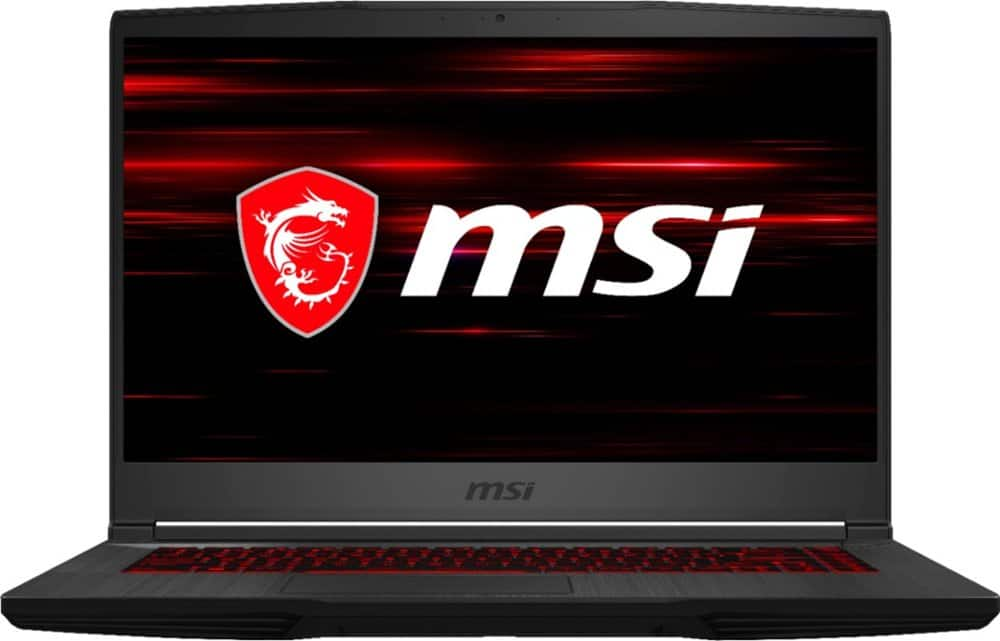 "MSI - GF65 15.6"" Gaming Laptop - Intel Core i7 - 8GB Memory - NVIDIA GeForce RTX 2060 - 512GBSolid State Drive - Black $899"