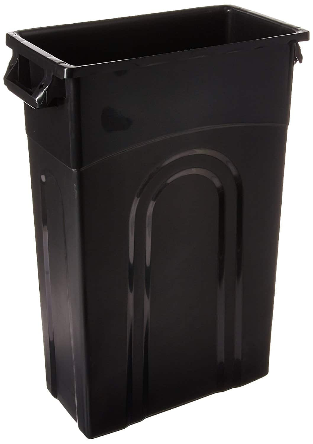 United Solutions TI0032 Highboy Waste Container In Black, 33 Gallon, Slim Fit Wastebasket $12.84 free ship w/ prime