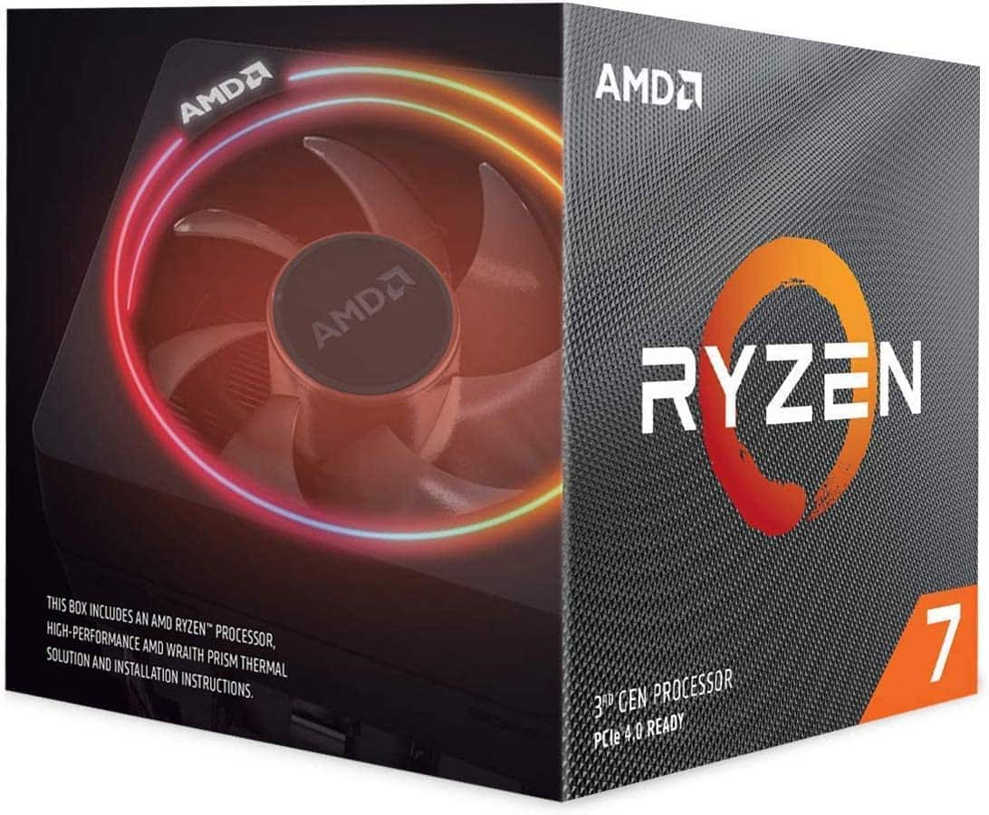 Amazon.com: AMD Ryzen 7 3700X 8-Core, 16-Thread Unlocked Desktop Processor with Wraith Prism LED Cooler: Computers & Accessories $265.65