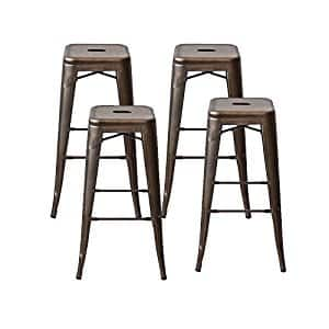 4 set of  Tolix Style Metal Counter Stools/Bar Stools 30inch $120 A/C+FS@Amazon.