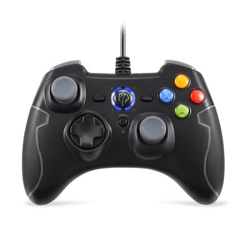 Cyber Monday Deal-Wired Game Controller Dual Vibration(Black and Gray) $13.59+FS at Amazon.