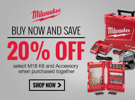 Milwaukee Flash Sale Free Item and 20% Off