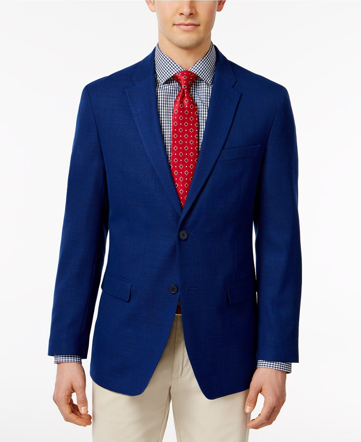 Tommy Hilfiger Men's Slim Fit Royal Blue Stretch Performance Sport Coat $44.23 + Free Shipping