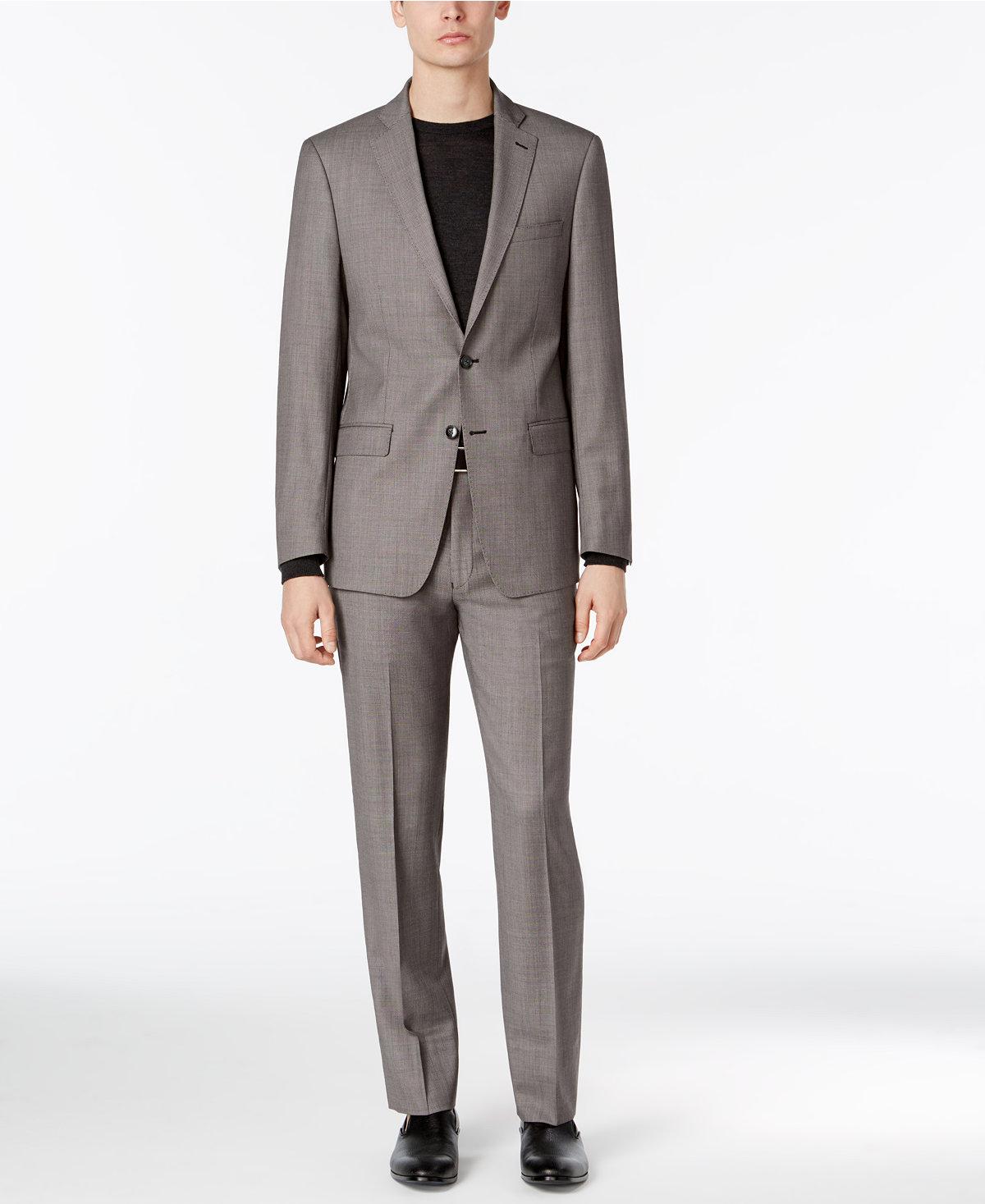 Calvin Klein Men's Extra-Slim Fit Black/White Birdseye Suit - $104.99 + Free S/H $104.79