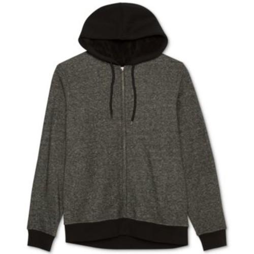 Jem Men's Marled Zip Up Sherpa-Lined Fleece Hoodie - $13.99
