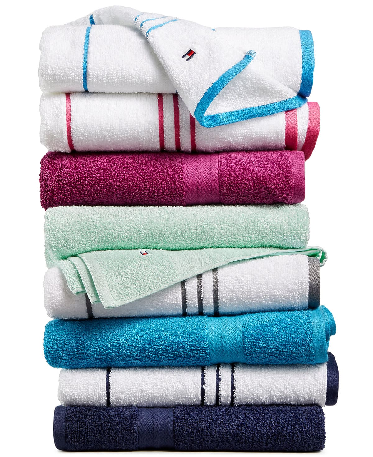 Tommy Hilfiger All American II Cotton Bath Towel Collection: $2.99-$5.99