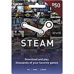 Steam wallet card 10% off on ebay via Best Buy $20 & $50 denominations