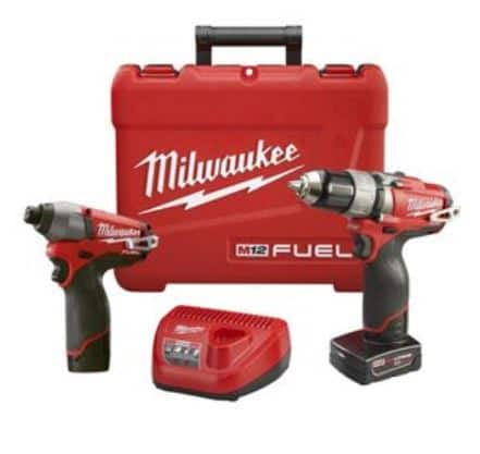 Milwaukee Tool sets with free bare tool - Acme Tools - example MILWAUKEE M12 FUEL Drill/Impact Kit / WM12™ Cordless 3/8 In. Ratchet $199