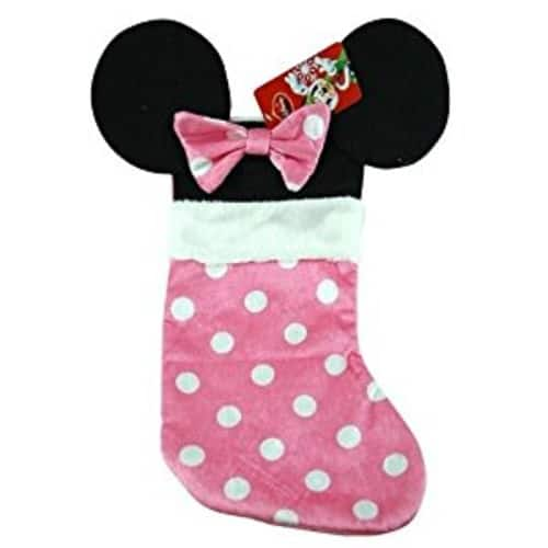 Disney Mouse Ears 18 Velour Christmas Stocking with Plush Cuff (Minnie Mouse - Pink) $6.99