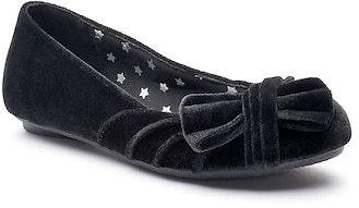 SO® Kirsten Girls' Velvet Ballet Flats, Blue/Black $7.99