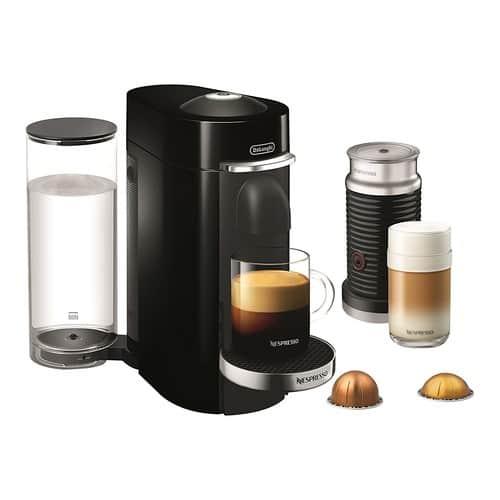 Nespresso VertuoPlus Deluxe Coffee and Espresso Maker by De'Longhi with Aeroccino, Black $122.84