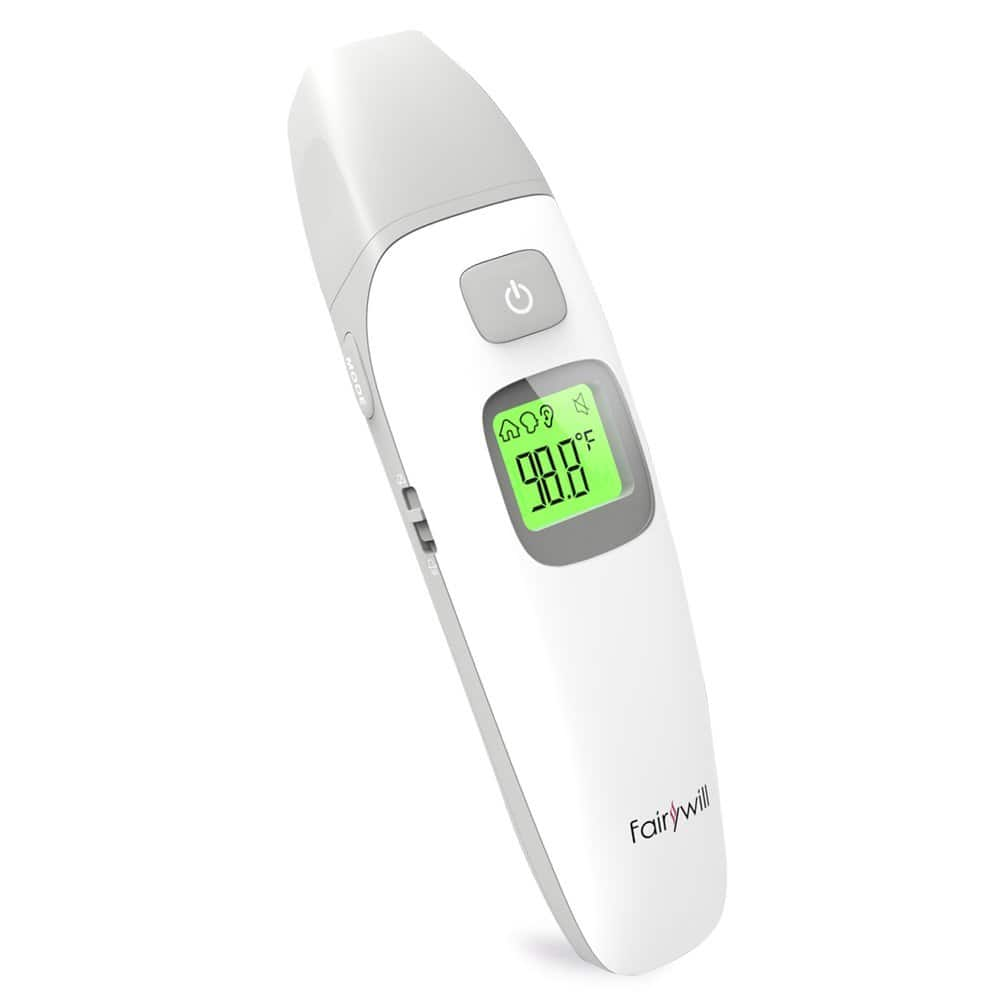 Fairywill Ear and Forehead Thermometer Digital Infrared for Baby Kids Adults Fever Warning Sound or silent option $9.98
