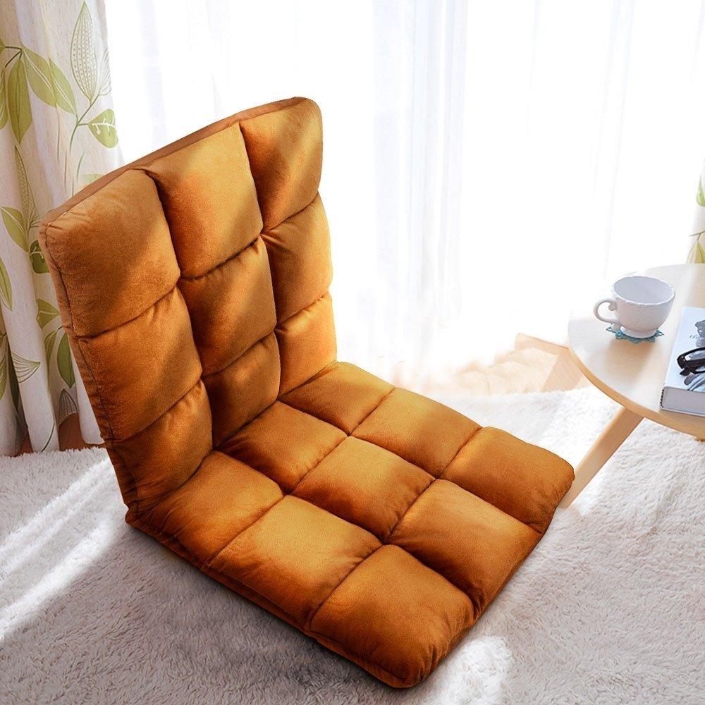 Jhua Home Adjustable Floor Chair, Gaming Chair, Floor cushion, couch cushion (Coffee) $20.99