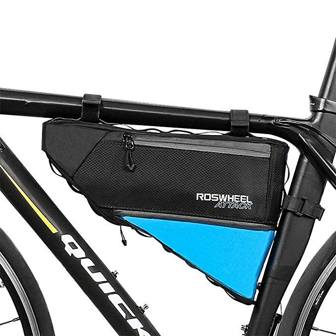 Adjustable 3L-4L bicycle frame storage bag. $23.99