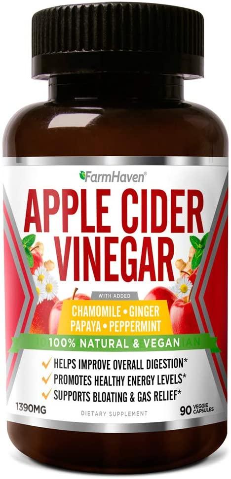 Organic Apple Cider Vinegar (90 Capsules | 1200mg) $14.59