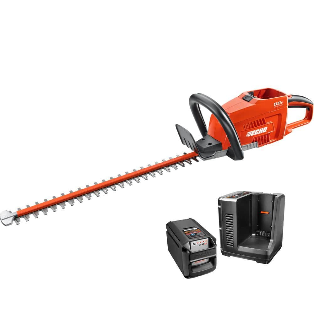 YMMV: ECHO 24 in. 58-Volt Lithium-Ion Brushless Cordless Hedge Trimmer - 2.0 Ah Battery and Charger Included $75.03