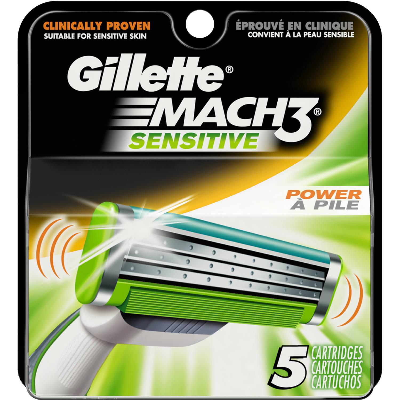YMMV - Gillette Mach 3 Sensitive Cartridges - 5 count - $1