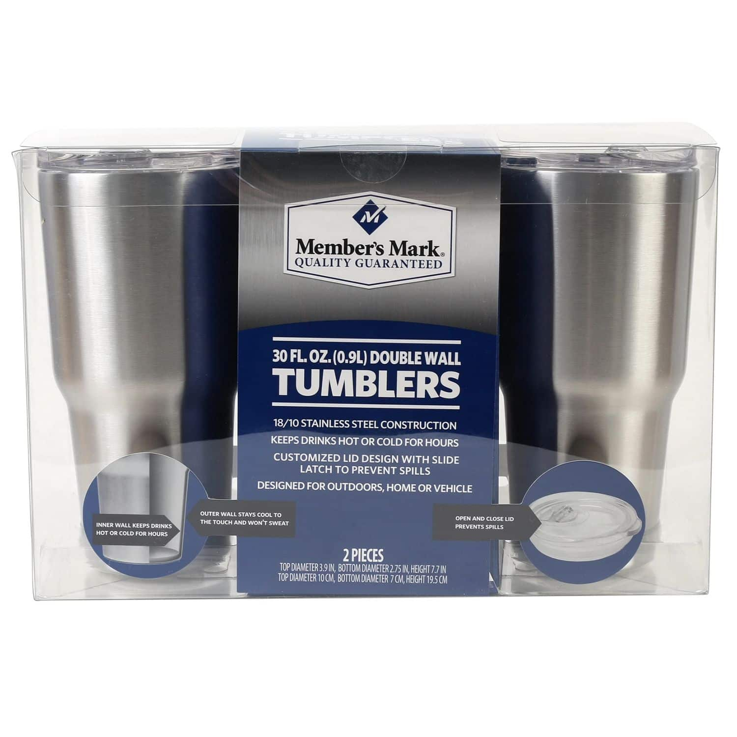 Member's Mark 30oz Tumblers, 2-Pack Sam's Club $19.98 online(+shipping) and in most clubs- like Yeti or Ozark Trail