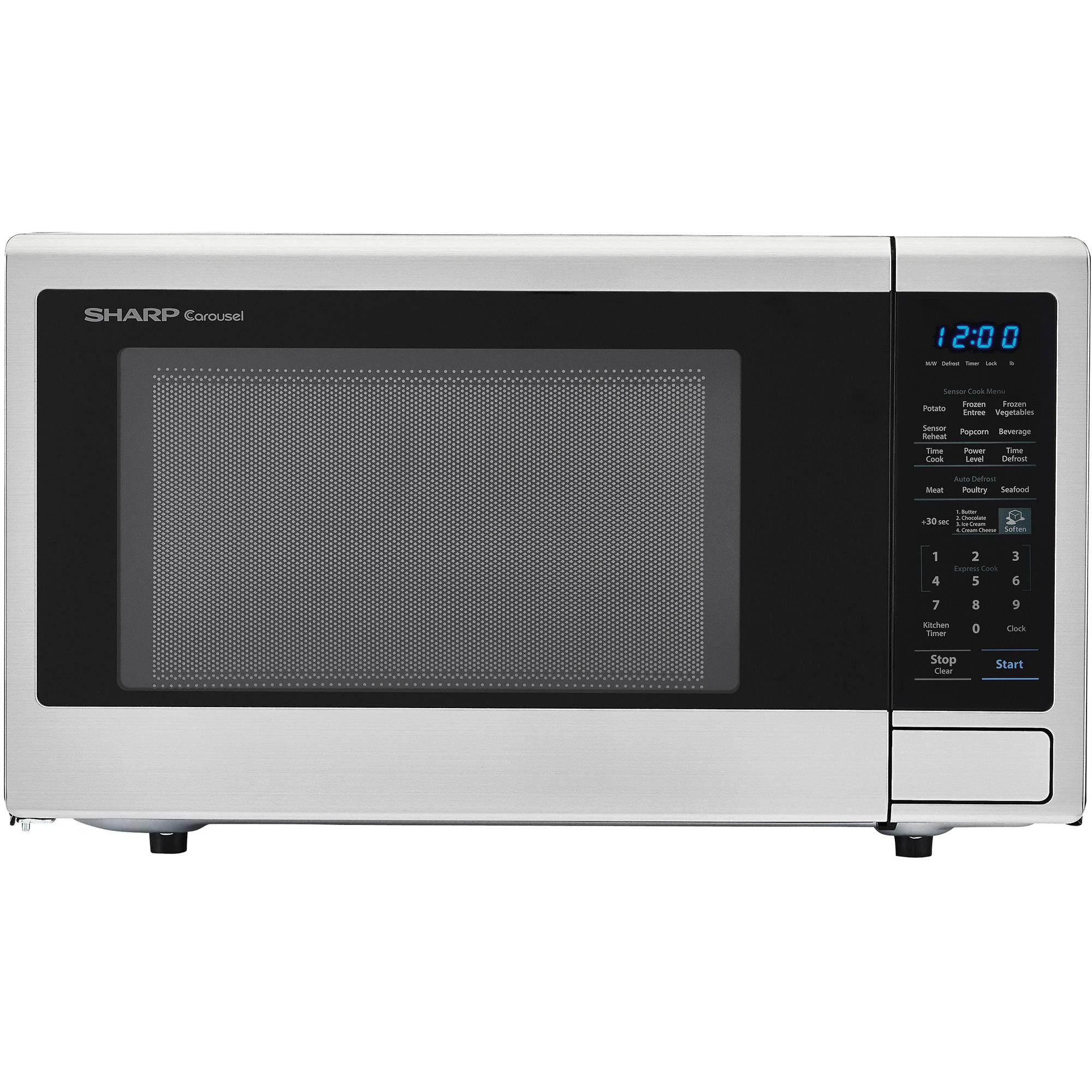 YMMV Sharp SMC1840CS 1.8 cu ft 1100W Microwave, Stainless Steel $79 YMMV