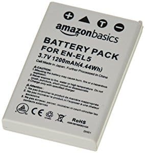 AmazonBasics Li-Ion Battery for Nikon Cameras (EN-EL5) $1.45