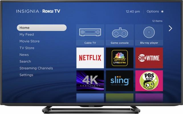 "Insignia - 55"" - LED - Smart - 4K Ultra HD TV - Roku TV - Black $429"
