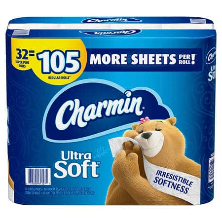 Charmin Ultra Soft Toilet Paper 32 Super Plus Roll at Sam's Club for $22.98