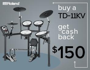 $150 Rebate on Roland TD-11KV V-Drums Kit and $100 Rebate on TD-11K