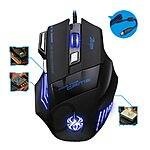 ZELOJES 5500 DPI 7 Button LED Optical USB Wired Gaming Mouse on sale 20% OFF for $13.85 + FREE SHIPPING
