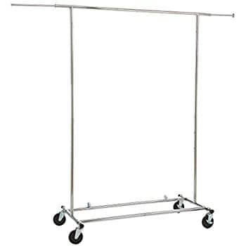 AmazonBasics Garment Rack - Chrome $29.98 FS